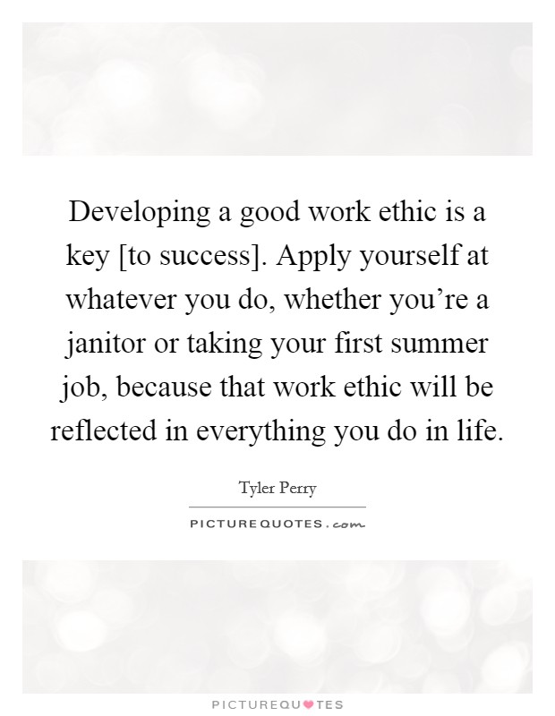 how to develop a good work ethic