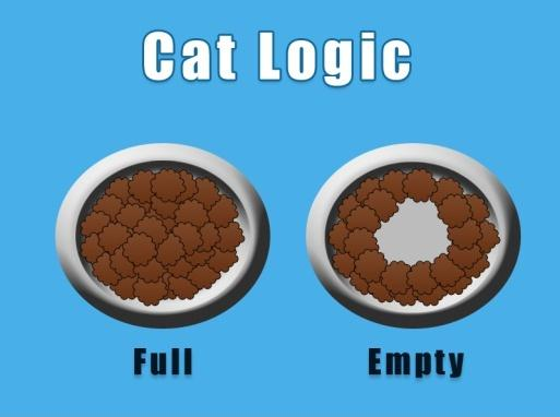 Cat logic. Full. Empty Picture Quote #1