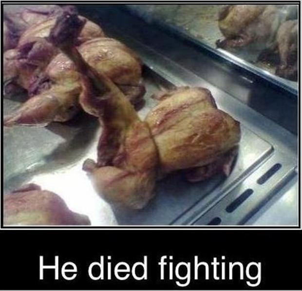 He died fighting Picture Quote #1