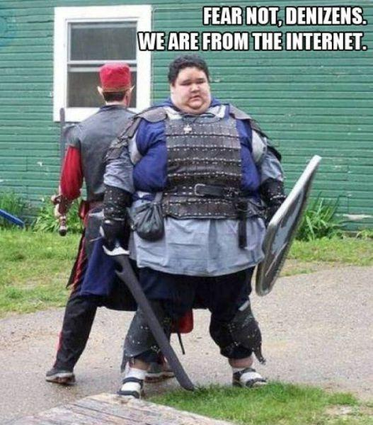 Fear not, denizens. We are from the internet Picture Quote #1