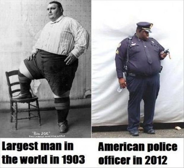 Largest man in the world in 1903. American police officer in 2012 Picture Quote #1