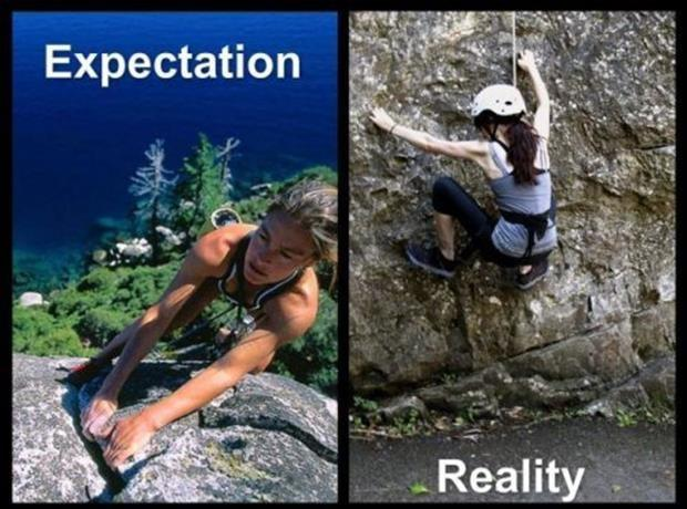 Expectation. Reality Picture Quote #8