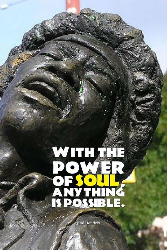 With the power of soul, anything is possible Picture Quote #1