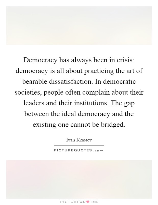 Liberal democracy is in crisis. But ... do we know what it is?