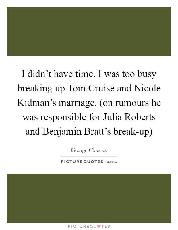Tom Cruise marriage rumours