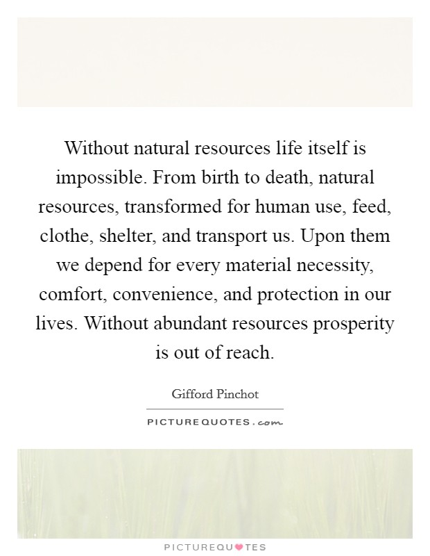 life without natural resources Nature conservation affects your life  we need to protect our natural resources f) without natural protection we will starve: e).
