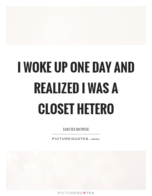 I woke up one day and realized I was a closet hetero Picture Quote #1