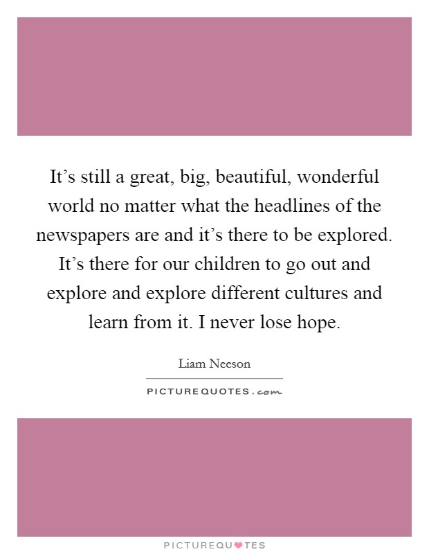 Wonderful World Quotes Sayings Picture