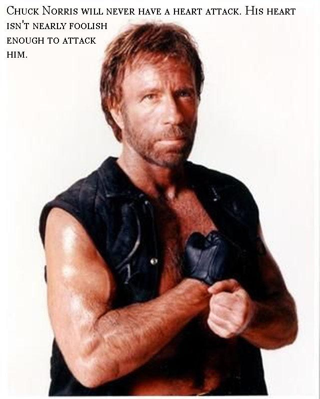 Chuck Norris will never have a heart attack. His heart isn't nearly foolish enough to attack him Picture Quote #1