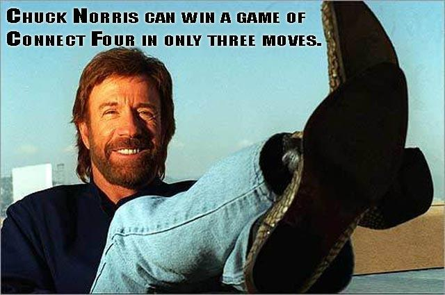 Chuck Norris can win a game of Connect Four in only three moves Picture Quote #1