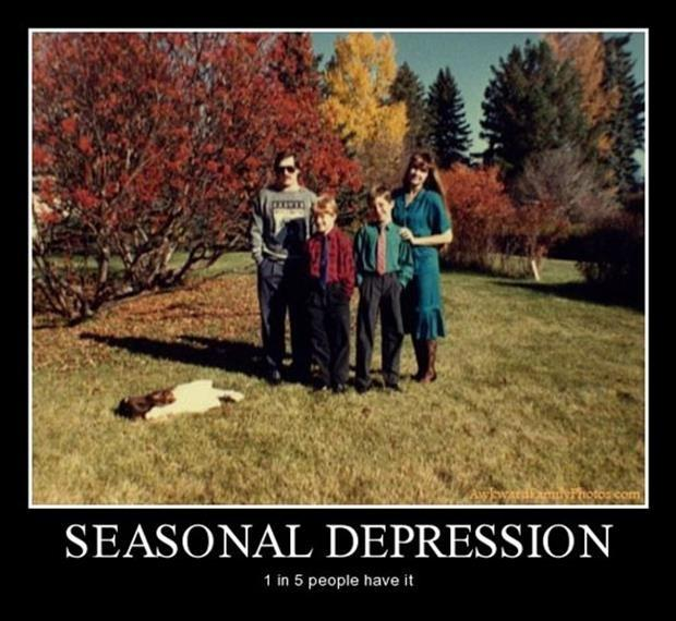 Seasonal depression. 1 in 5 people have it Picture Quote #1