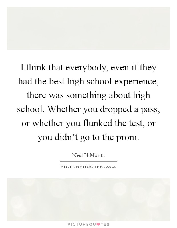Best high school experience