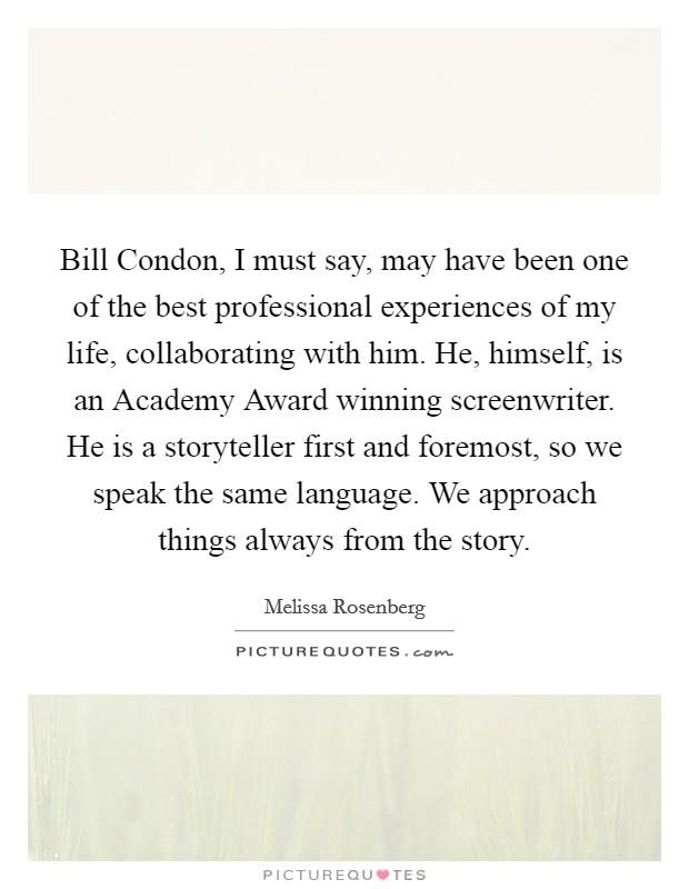 No worries bill condon essay