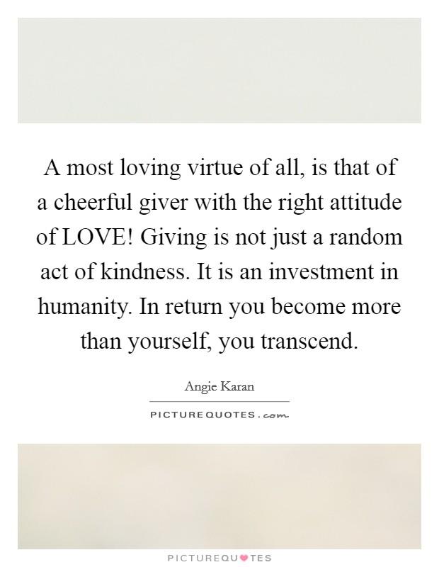 Virtues/Generosity