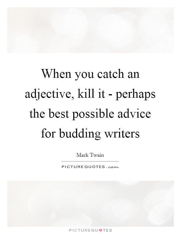 When you catch an adjective, kill it - perhaps the best possible advice for budding writers Picture Quote #1