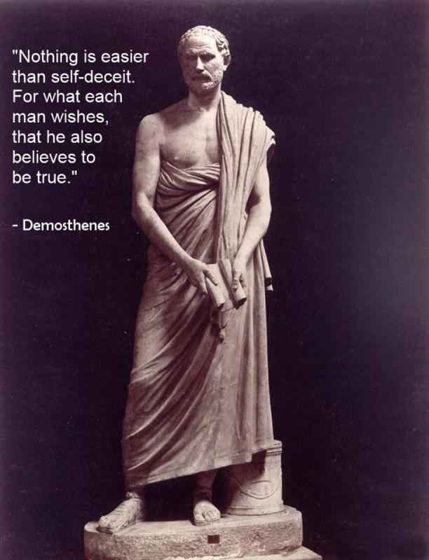 Nothing is easier than self-deceit. For what each man wishes, that he also believes to be true Picture Quote #1