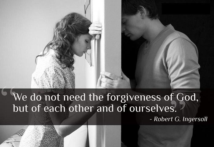 We do not need the forgiveness of God, but of each other and of ourselves Picture Quote #1