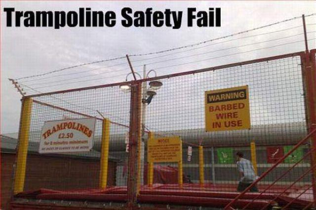 Trampoline safety fail Picture Quote #1