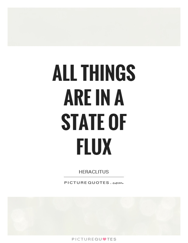All things are in a state of flux Picture Quote #1