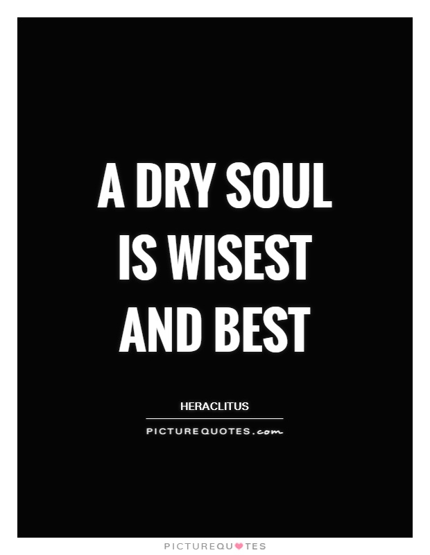 A dry soul is wisest and best Picture Quote #1