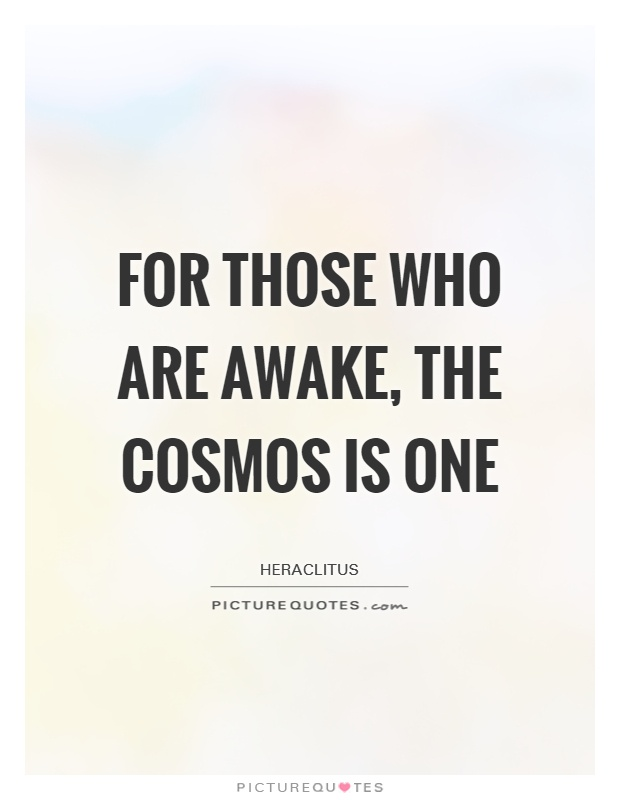 For those who are awake, the Cosmos is One Picture Quote #1