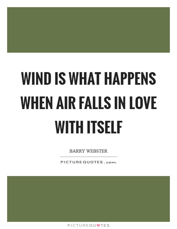 Wind is what happens when air falls in love with itself Picture Quote #1