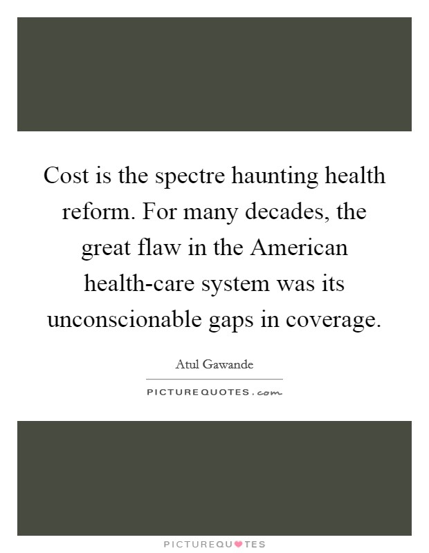 the flaws in the american health care system Everything you ever wanted to know about canadian health care compared to the $82,975 american how well does the canadian health care system.