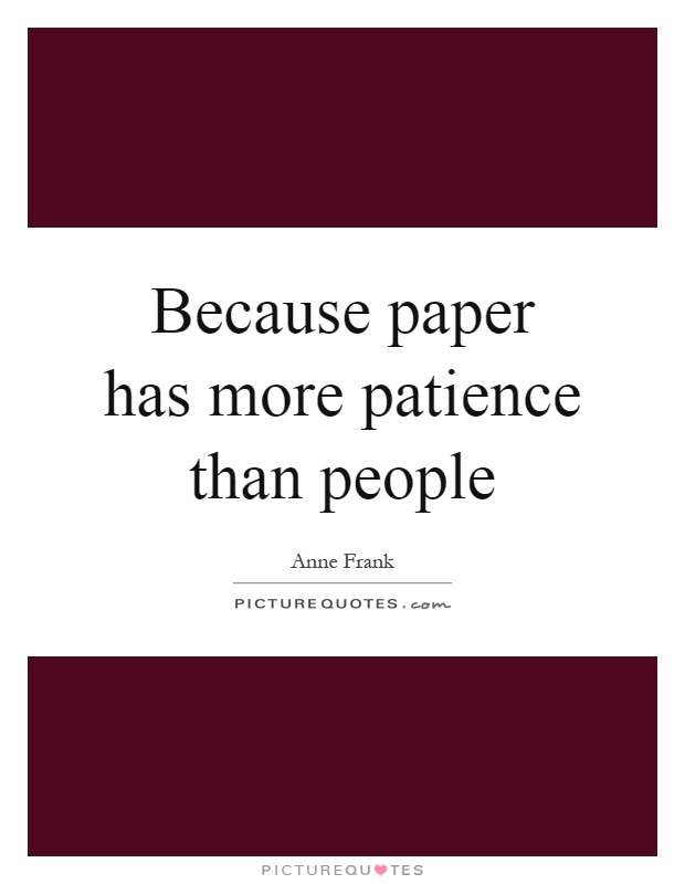 Essay On Patience