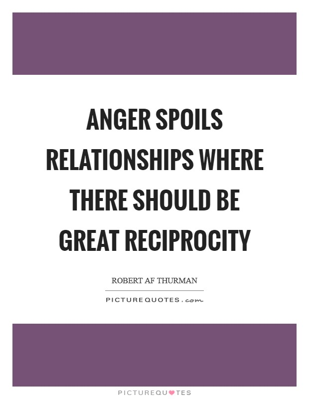 Anger spoils relationships where there should be great reciprocity Picture Quote #1
