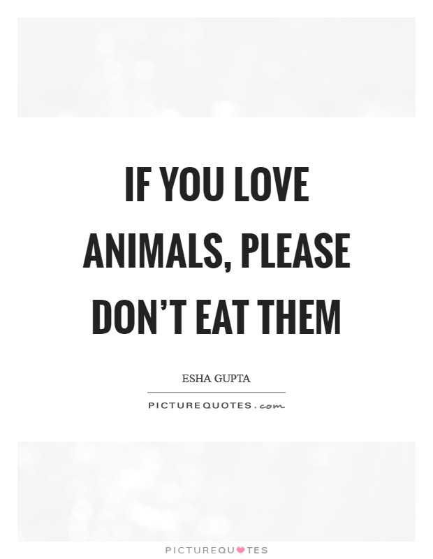 If you love animals, please don't eat them Picture Quote #1