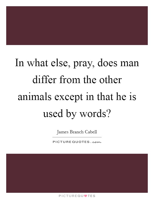 In what else, pray, does man differ from the other animals except in that he is used by words? Picture Quote #1
