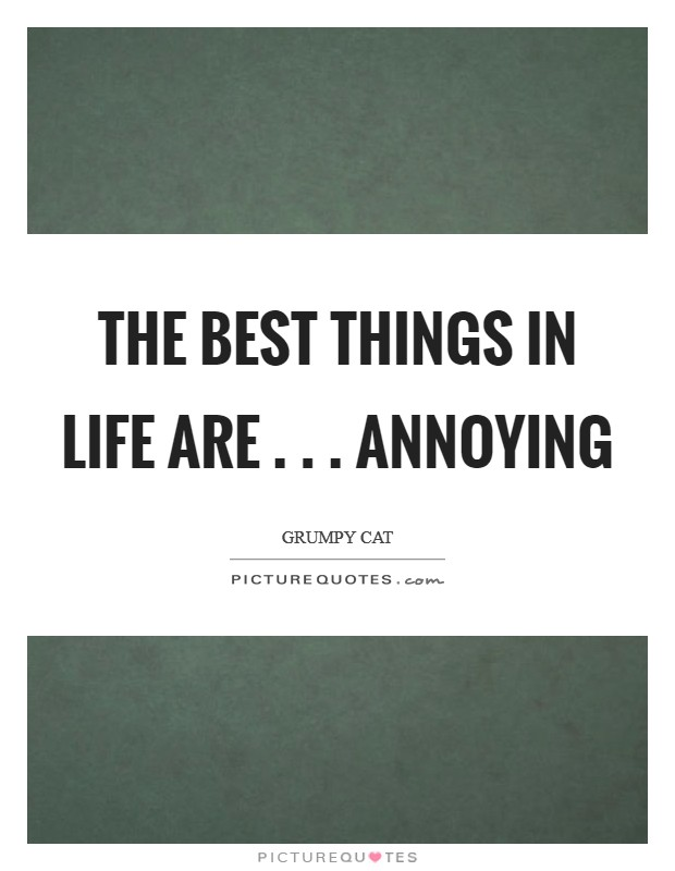 The best things in life are . . . Annoying Picture Quote #1
