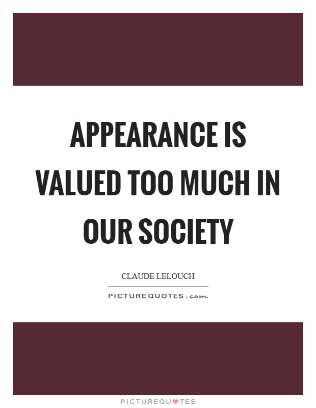appearance in society