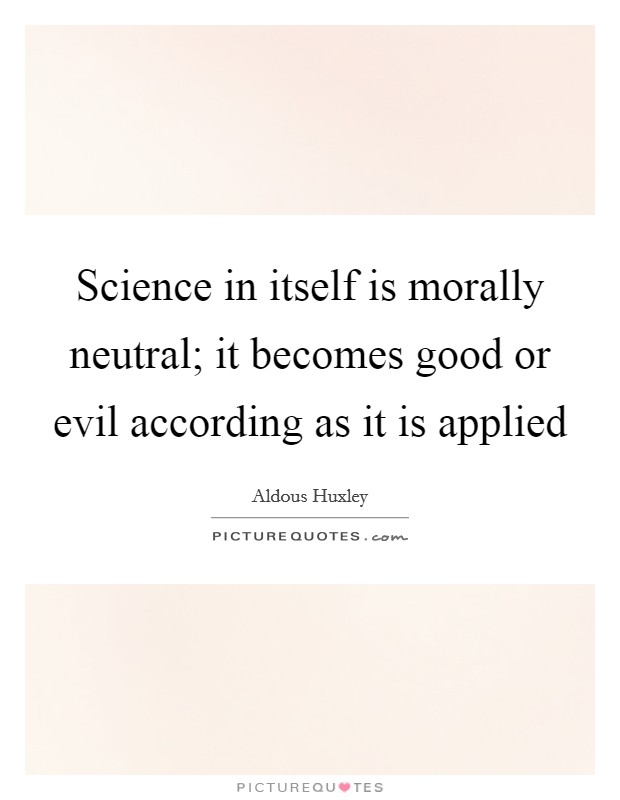 Is science good or bad essay