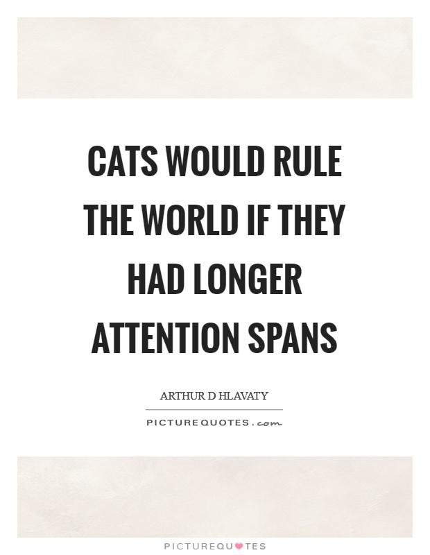 Cats would rule the world if they had longer attention spans Picture Quote #1