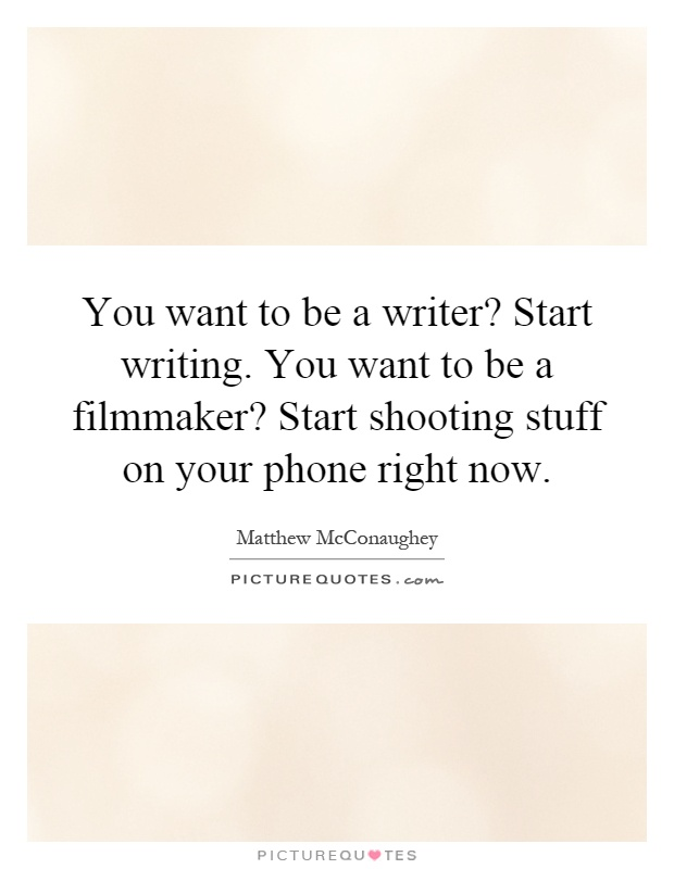 Want to Be a Writer? It's Time to Act Like a Writer