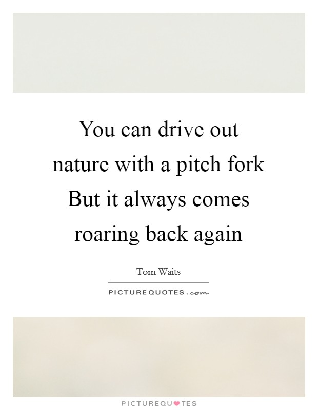 You can drive out nature with a pitch fork But it always comes roaring back again Picture Quote #1