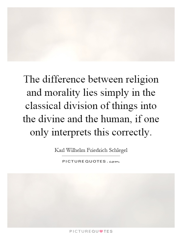 the relationship between religion and morality essay