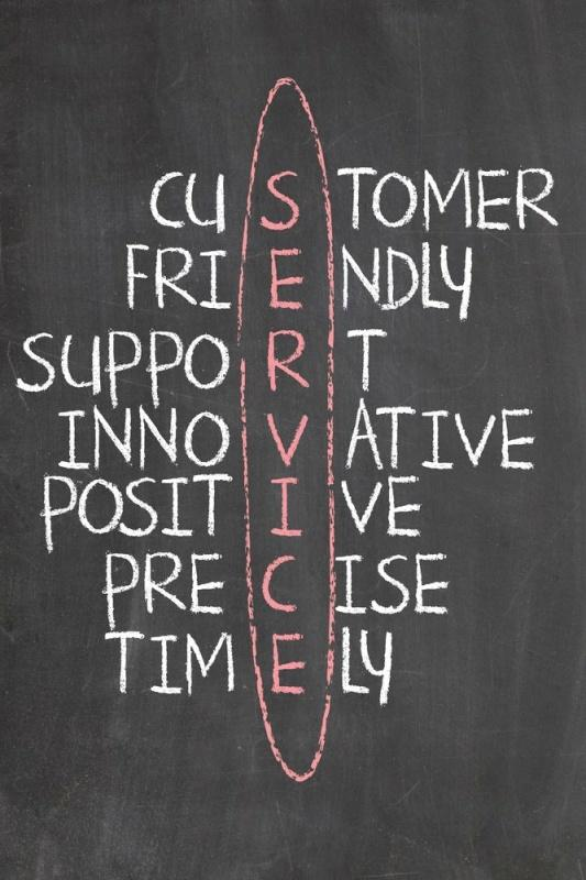 SERVICE. Customer. Friendly. Support. Innovative. Positive. Precise. Timely Picture Quote #1