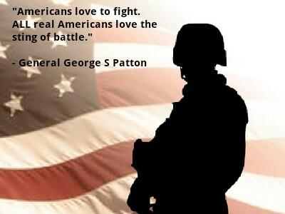 Americans love to fight. All real Americans love the sting of battle Picture Quote #1