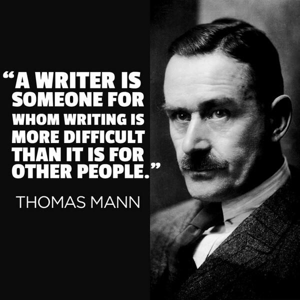 A writer is someone for whom writing is more difficult than it is for other people Picture Quote #1
