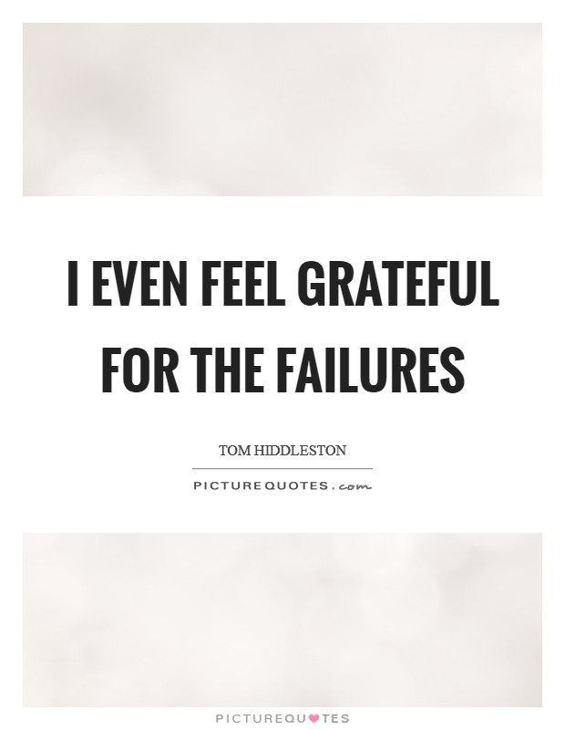 I even feel grateful for the failures Picture Quote #1