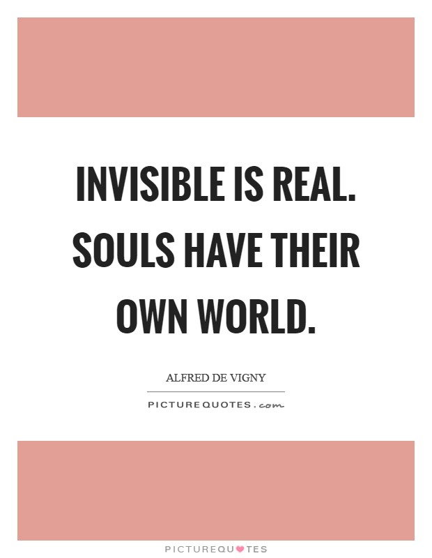 Invisible is real. Souls have their own world Picture Quote #1