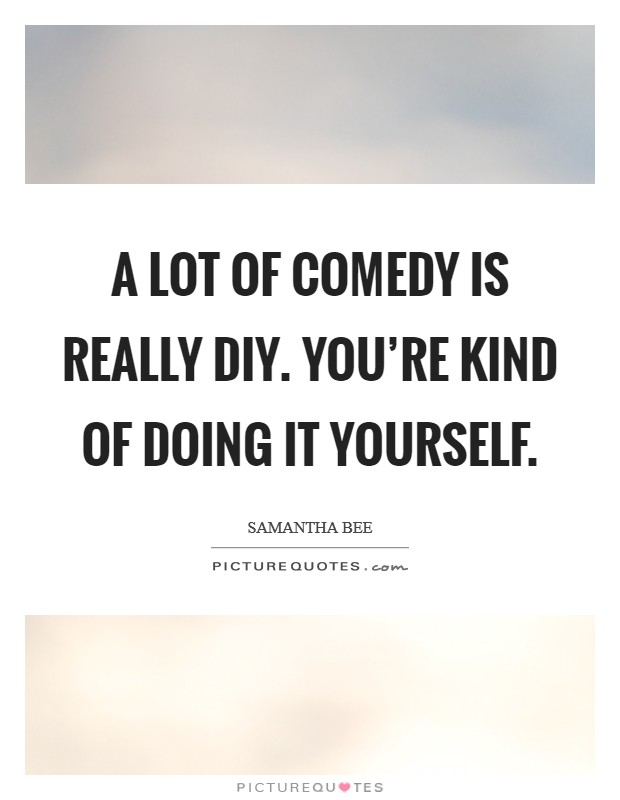 A lot of comedy is really DIY. You're kind of doing it yourself Picture Quote #1