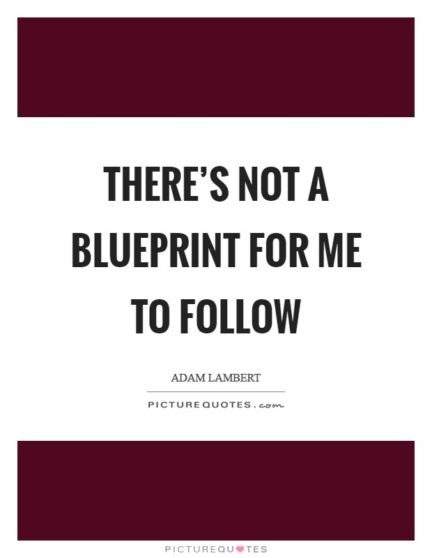 There's not a blueprint for me to follow Picture Quote #1
