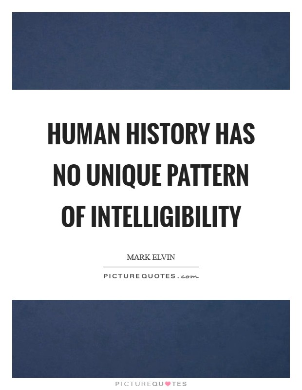 Human history has no unique pattern of intelligibility Picture Quote #1