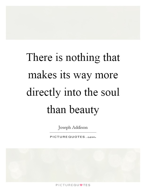 There is nothing that makes its way more directly into the soul than beauty Picture Quote #1