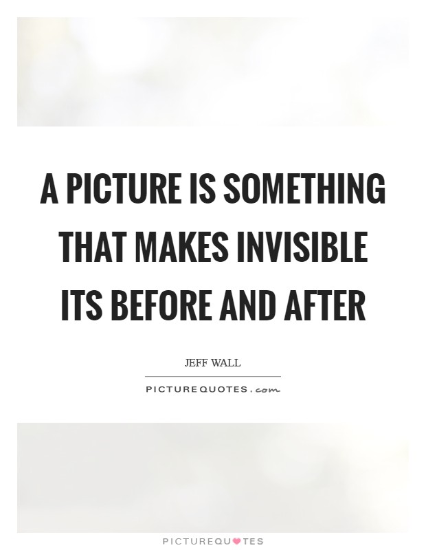 A picture is something that makes invisible its before and after Picture Quote #1