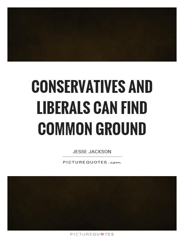 Conservatives and liberals can find common ground Picture Quote #1