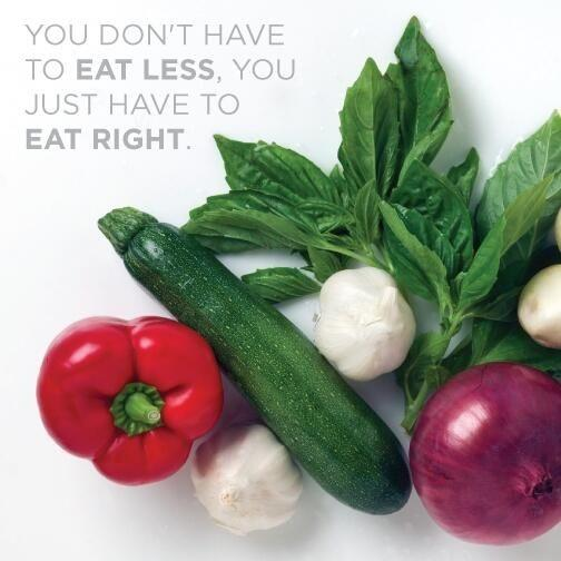 You don't have to eat less. You just have to eat right Picture Quote #1